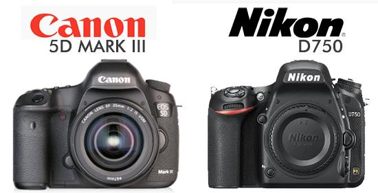 Canon 5D Mark III en Nikon D750