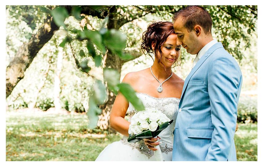 Nederlandse bruidsfotografie loveshoot trouwreportage van Danny en Chantal in Slot Zuylen