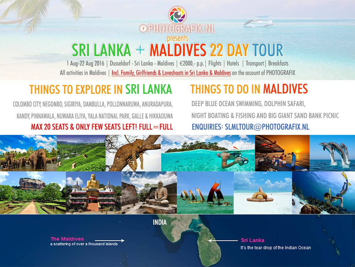 HOTOGRAFIX presents.. de SRI LANKA & MALDIVES tour … een 22-daagse groepsreis naar de parel van Azie, Sri Lanka en het paradijs op aarde, de Malediven.