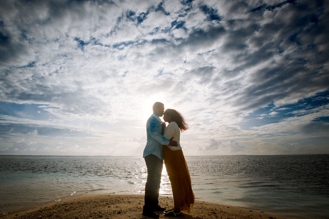 Saudi Arabian couple loveshoot in Maafushi beach, Maldives